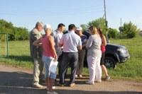 Встречу с жителями поселка Озерный провел глава района