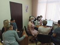 Интерактивный блокнот участковой избирательной комиссии осваивают председатели и секретари УИК Красноармейского района.
